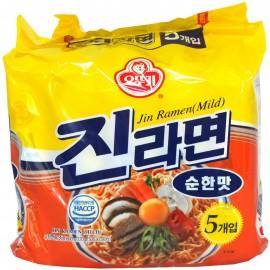 image of [Joy Snacks] Korea Ottogi Jin Ramen Mild Multi pack (120g x 5ea)