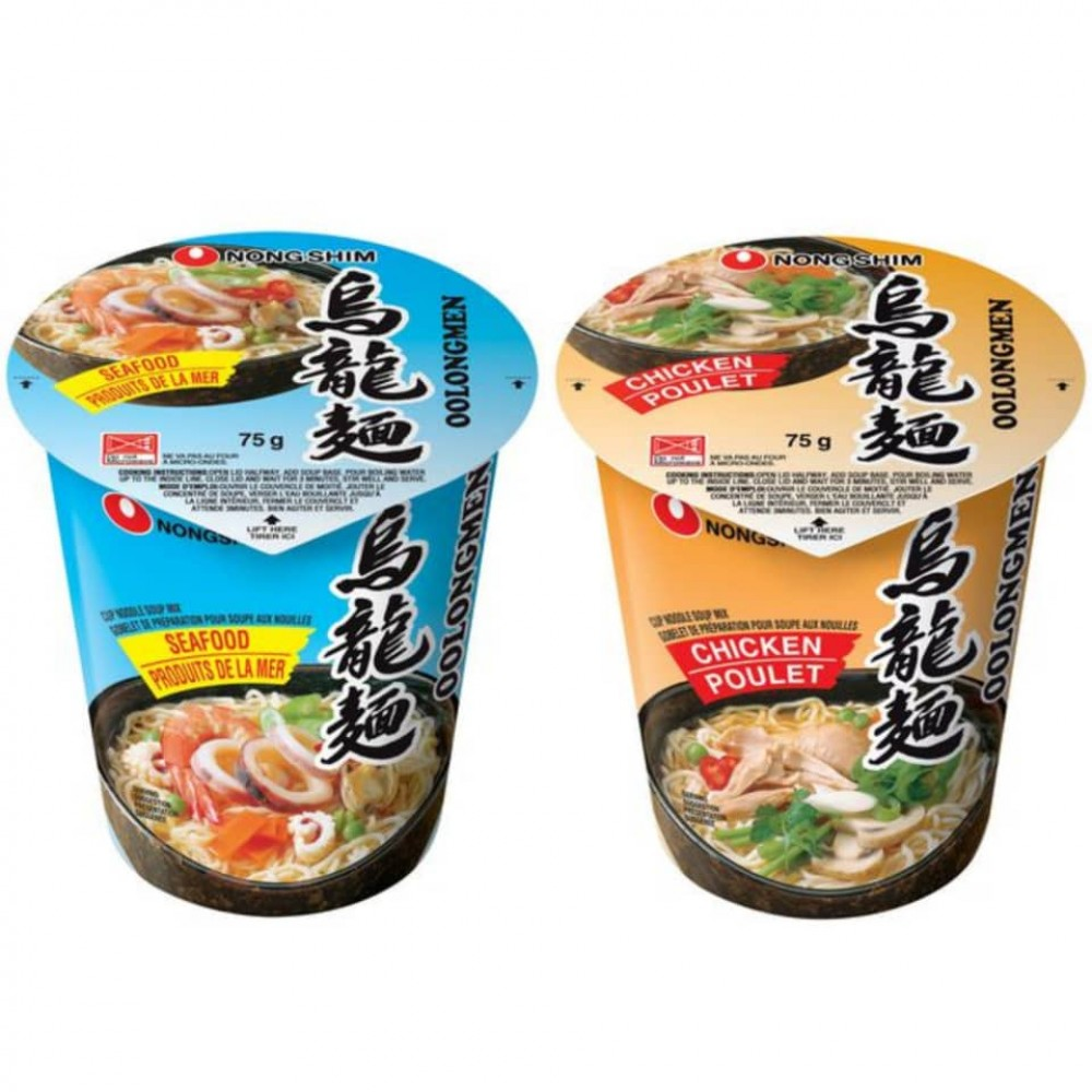 [Joy Snacks] Nongshim Oolongmen Cup Noodles Chicken/ Seafood 75g - kn21/kn22