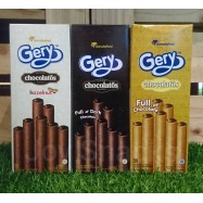image of [Joy Snacks] Gery Chocolatos Wafer Rolls Dark/Chocolate/Hazelnut (16gx10ea) - KN302