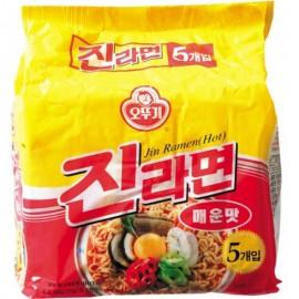 image of [Joy Snacks] Korean Ottogi Jin Ramen Hot Noodle (5x120g) - KN140