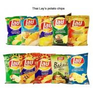 image of [Joy Snacks] Lays Baked Seaweed/Meingkam Krobro/Nori Seaweed/Original Flavor Potato Chips 50g - KN87s