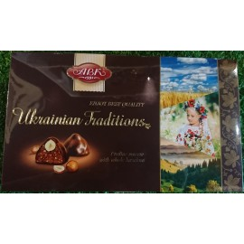 image of [Joy snacks] ABK UKRAINIAN TRADITIONS CHOCOLATES 180G-KN466