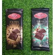 image of [Joy Snacks] ABK Dark Chocolate 50% With Hazelnut / Extra Dark 80% 90g - KN477/KN478