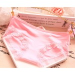 【READY STOCK】 5 PCS [FREE SIZE] Low Waist Cotton Fabric Lace Sexy Panties