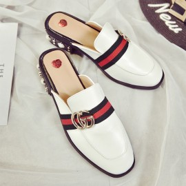 image of GG Vintage baotou half-slip slippers