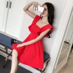 Ins super fire sexy slim dress