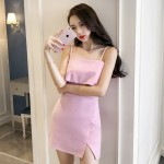 Chic off shoulder sexy waist sling bag hip dress