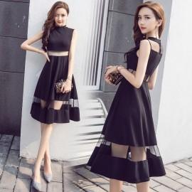 image of Sexy Scheming Dress Slim Sleeveless Mesh Dress