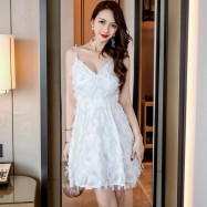 image of Sling sexy princess feather tassel temperament dress