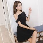 Sexy slim off-the-shoulder strap dress