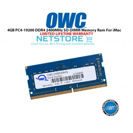 "image of OWC 4GB PC4-19200 DDR4 2400MHz SO-DIMM 260 Pin CL17 Macbook Ram Memory Upgrade For Mid 2017 iMac 27"" W/ Retina 5K Models And PCs Which Utilize PC4-19200 SO-DIMM Model OWC2400DDR4S4GB"