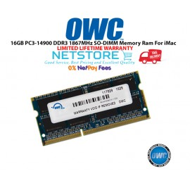 "image of OWC 16GB PC3-14900 DDR3 1867MHz SO-DIMM 204 Pin CL11 Macbook Ram Memory Upgrade For Mid 2017 iMac 27"" W/ Retina 5K Models And PCs Which Utilize PC3-14900 SO-DIMM Model OWC1867DDR3S16G"