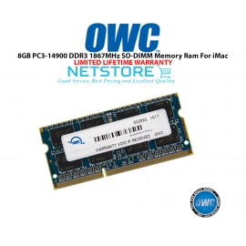 "image of OWC 8GB PC3-14900 DDR3 1867MHz SO-DIMM 204 Pin CL11 Macbook Ram Memory Upgrade For Mid 2017 iMac 27"" W/ Retina 5K Models And PCs Which Utilize PC3-14900 SO-DIMM Model OWC1867DDR3S8GB"