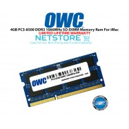 image of OWC 4GB PC3-8500 DDR3 1066MHz SO-DIMM 204 Pin Macbook Ram Memory Upgrade For Multiple iMac Models And PCs Which Utilize PC3-8500 SO-DIMM Model OWC8566DDR3S4GB