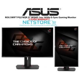"image of ASUS ROG SWIFT PG278QR Black 27"" 1ms (GTG) 165Hz WQHD 2560x1440 NVIDIA G-Sync Gaming Monitor, VESA Mountable, USB 3.0, Tilt, Swivel, Pivot, Height Adjustable"