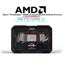 image of AMD 2nd Gen Ryzen Threadripper 2950X 16-Core 32-Thread 4.4 GHz Max Boost (3.5 GHz Base) Socket sTR4 180W YD295XA8AFWOF Desktop Processor