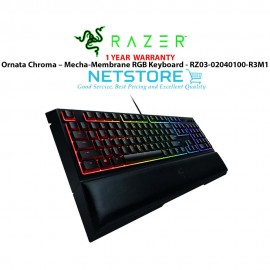image of Razer Ornata Chroma – Mecha-Membrane RGB Keyboard - RZ03-02040100-R3M1