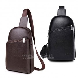 image of Men's Faux Leather Sling Bag / Cross body bag / shoulder bag