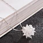 3D Crystal Flower Necklace(18KGP)