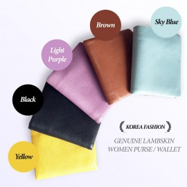 image of Korea Fashion Genuine Lambskin Women Purse / Wallet