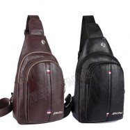 image of Faux Leather Chest Bag / Sling Bag