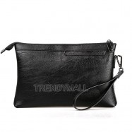 image of Faux Leather Large Capacity Clutch /Wristlet