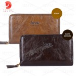 Faux Leather Double Zip Men's Wallet / Clutch /Wristlet (JEEP)