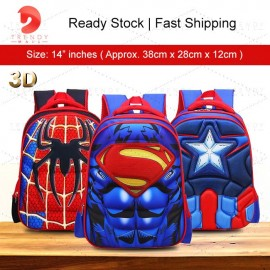 image of Ready Stock 3D Backpack Student School Bags
