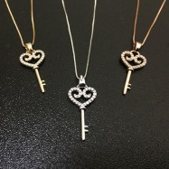 image of [Ready Stock] High Quality Necklace With Love Key Pendant