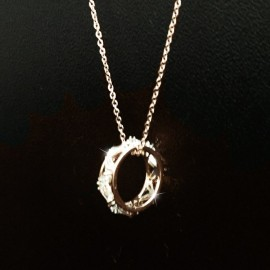 image of Korea Fashion Crystal Ring Necklaces