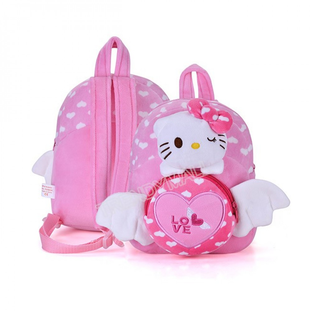 Readystock 3D Hello Kitty Plush Toy Kids Backpack/ Casual Backpack