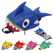 image of [Readystock] 3D Baby Shark Kids Anti Lost Backpack