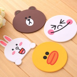 image of [Ready Stock]Cute Cartoon Set Cup Coaster