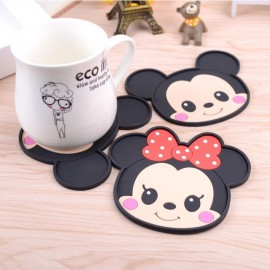 image of [Ready Stock] Mickey Minnie Set Cartoon Cup Coaster