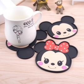 image of [Ready Stock] Mickey Minnie Set Cartoon Cup Coaster