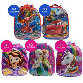 image of 6D Cartoon Design Kids Backpack Unicorn