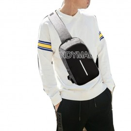 image of Anti Theif USB Chest Bag / Sling Bag