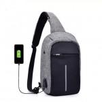 Anti Theif USB Chest Bag / Sling Bag