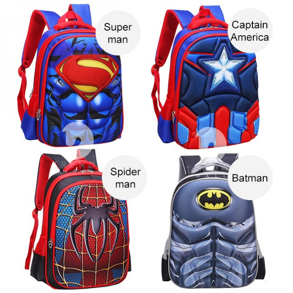 Readystock Msia! Kids Backpack Student School Bags