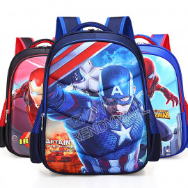 image of 3D Marvel Hero Kids school Backpack / Spiderman School Bag