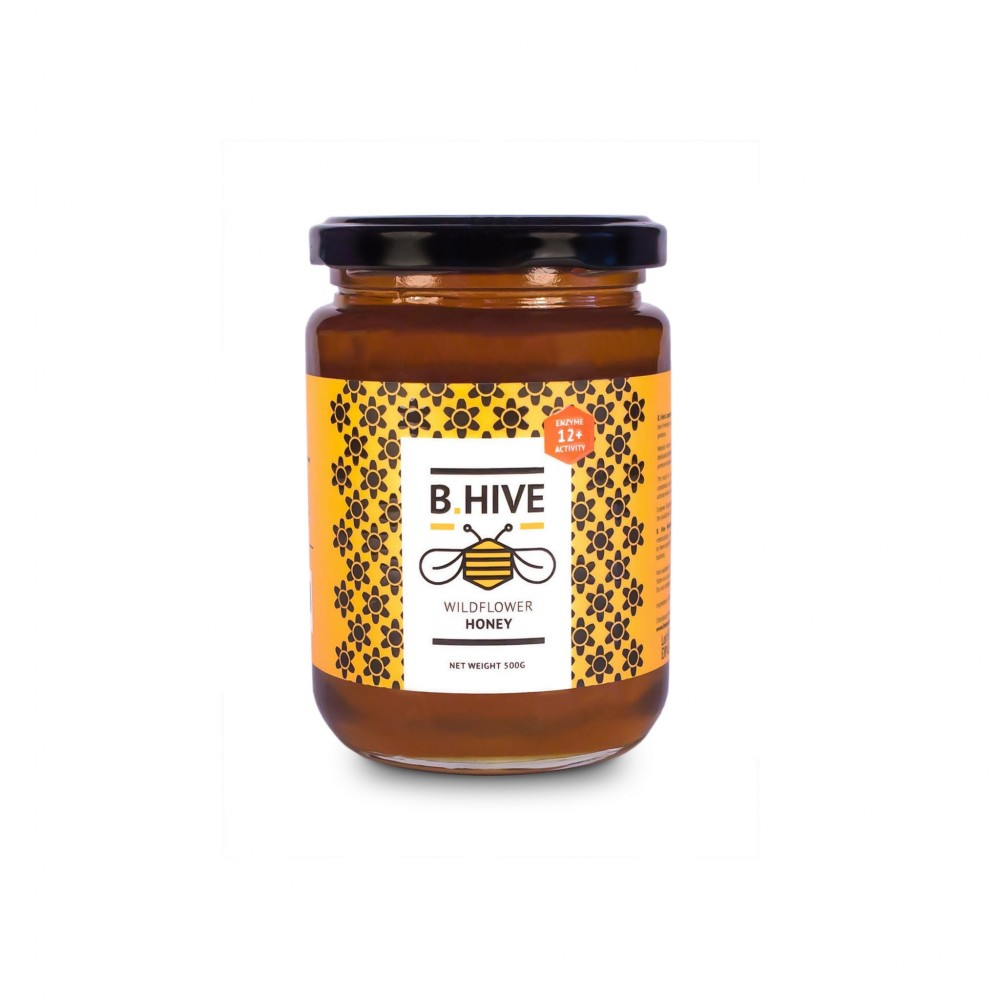 B.Hive Wildflower Honey 500g ( Enzyme Activity 12+ )