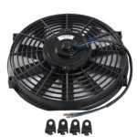 12V 80W 2100RPM Straight/Cruve Blade Electric Cooling Radiator Fan Kit Universal