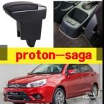 Armrest Proton Saga 2016-2018 Double Layer Black Stitching (Non-USB)