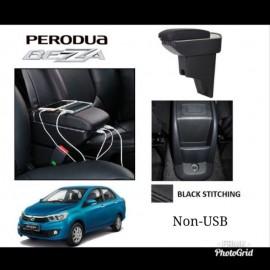 image of Armrest Perodua Bezza Double Layer Black Stitching (Non-USB)