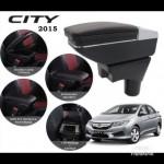 Armrest Honda CityJazz 2008-2013 Double Layer Black Stitching (Non-USB)