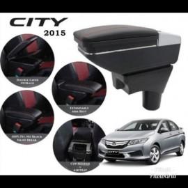 image of Armrest Honda CityJazz 2008-2013 Double Layer Black Stitching (Non-USB)
