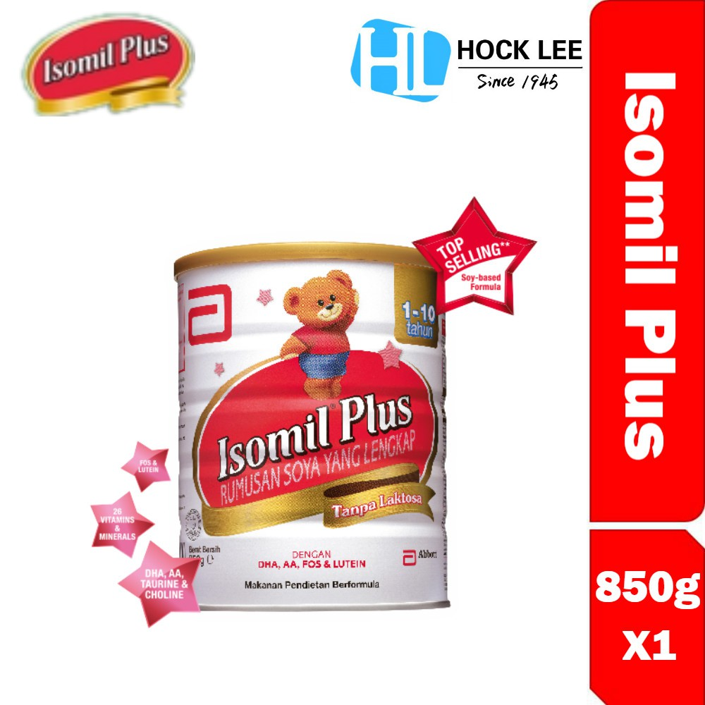 Isomil Plus 850G (1 to 10 Years Old) X 1
