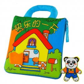 image of [Little B House] Cloth Book - Happy day (Panda) -BT08