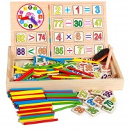 image of [Little B House] Early Learning Counting Material Wooden Math Calculate Educational Toys -BT17