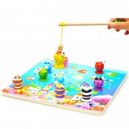 image of [Little B House] 3D Wooden Magnetic Fishing Game -BT20